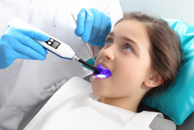 Girl getting orthodontics treatment at Nelson R. Diers Orthodontics in Cincinnati, OH
